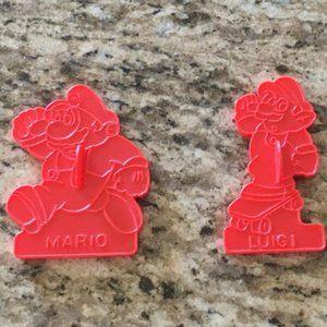 VTG Mario & Luigi Cookie Cutters (1989)